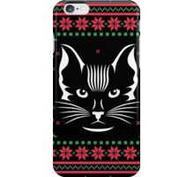 Cat Face Ugly Christmas Sweater iPhone Case/Skin