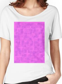Structured Pink Tiles Women's Relaxed Fit T-Shirt