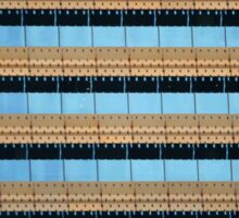 Urban Abstract: Blue and Gold Sticker