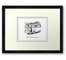 VW Type 2 Bay Window Surfer - 'Signed' Framed Print
