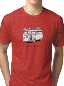 VW Type 2 Bay Window Surfer - 'Signed' Tri-blend T-Shirt