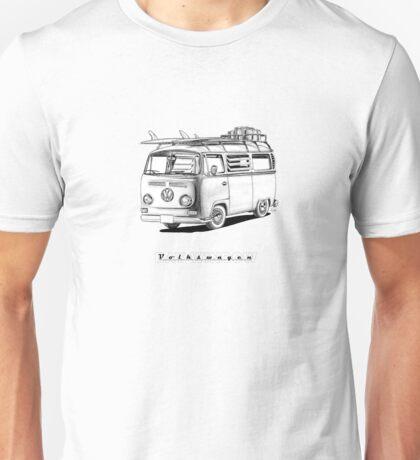 VW Type 2 Bay Window Surfer - 'Signed' Unisex T-Shirt