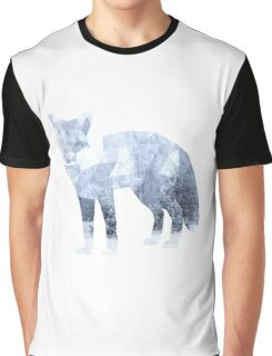 Low Poly Fox, Snowy Forest Graphic T-Shirt