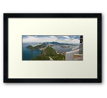 Panorama of Rio de Janeiro from atop Sugarloaf Mountain Framed Print