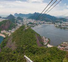 Panorama of Rio de Janeiro from atop Sugarloaf Mountain Sticker