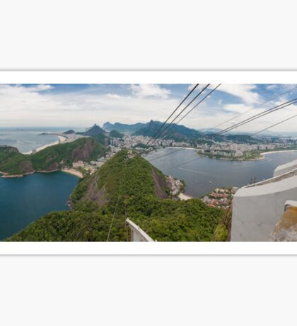 Panorama of Rio de Janeiro from atop Sugarloaf Mountain Sticker