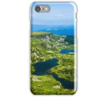 Beautiful Lakes Over The Mountain (The Seven Rila Lakes) iPhone Case/Skin