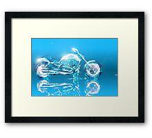 ice harley Framed Print