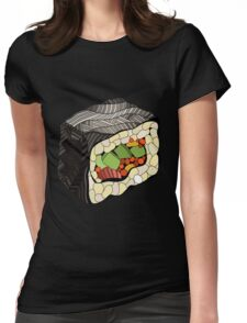 Sushi illustration Womens Fitted T-Shirt