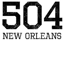 Distressed New Orleans 504 Area Code by kwg2200
