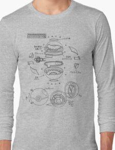 Pokeball Engineering Schematic Long Sleeve T-Shirt