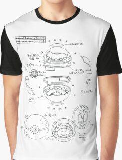 Pokeball Engineering Schematic Graphic T-Shirt