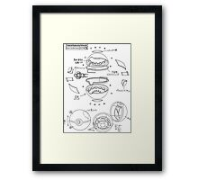 Pokeball Engineering Schematic Framed Print