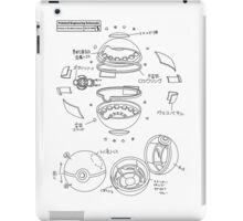 Pokeball Engineering Schematic iPad Case/Skin