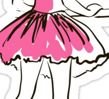 sketch of girl's ballerina  Sticker