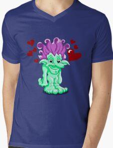 Funny Lovely Troll Mens V-Neck T-Shirt