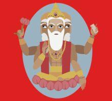 illustration of Hindu deity lord Brahma Kids Tee