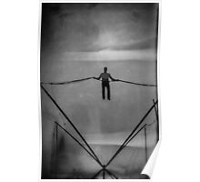 The Amazing Gravity Defying Man - Brighton - England Poster
