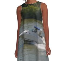 Powerful Motor Boat A-Line Dress