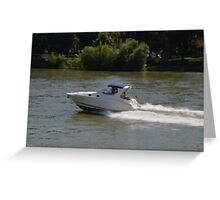 Powerful Motor Boat Greeting Card