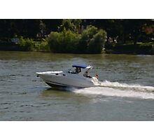 Powerful Motor Boat Photographic Print