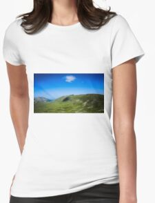 Lone Cloud Over The Mountain Womens Fitted T-Shirt