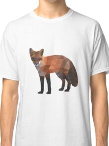 Low Poly Fox, Natural Colors Classic T-Shirt