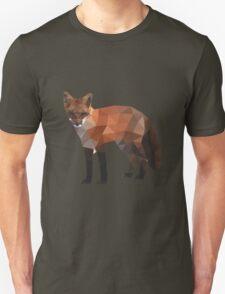 Low Poly Fox, Natural Colors Unisex T-Shirt