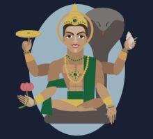 illustration of Hindu deity lord Vishnu One Piece - Long Sleeve