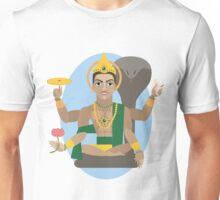illustration of Hindu deity lord Vishnu Unisex T-Shirt