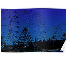 ferris wheel city Poster