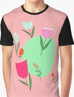 tulips in retromood 1 Graphic T-Shirt