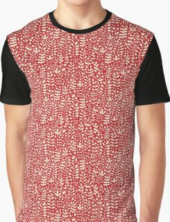Red seamless pattern with hand drawn floral elements Graphic T-Shirt