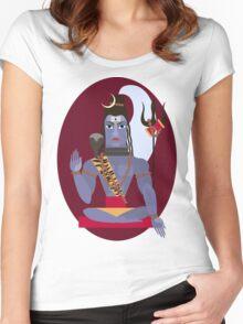 illustration of Hindu deity lord Shiva Women's Fitted Scoop T-Shirt