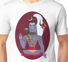 illustration of Hindu deity lord Shiva Unisex T-Shirt