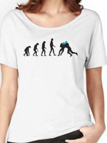 Evolution Football – get your funny football shirt Women's Relaxed Fit T-Shirt