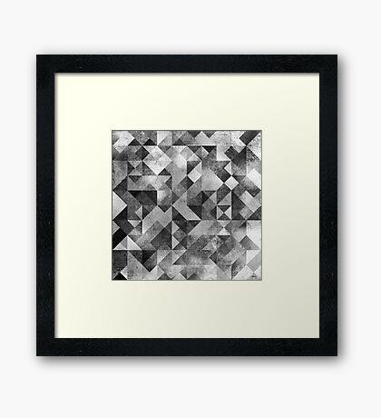 MOON MATRIX Framed Print