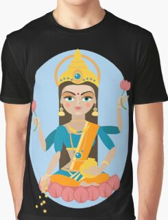 illustration of Hindu deity mother Lakshmi Graphic T-Shirt