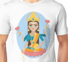 illustration of Hindu deity mother Lakshmi Unisex T-Shirt