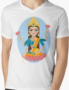 illustration of Hindu deity mother Lakshmi Mens V-Neck T-Shirt