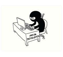 ninja developer programming language Art Print