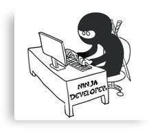 ninja developer programming language Metal Print