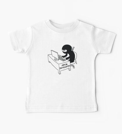 ninja developer programming language black ed Baby Tee