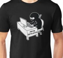 ninja developer programming language black ed Unisex T-Shirt