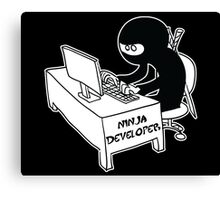 ninja developer programming language black ed Canvas Print