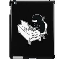 ninja developer programming language black ed iPad Case/Skin