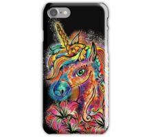 Unicorn, fantasy, magic, magical, rainbow, color, horse, lily, flowers, pony iPhone Case/Skin