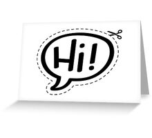 Yo!Cards - Hi! Greeting Card