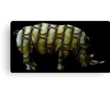 rhino muscles Canvas Print