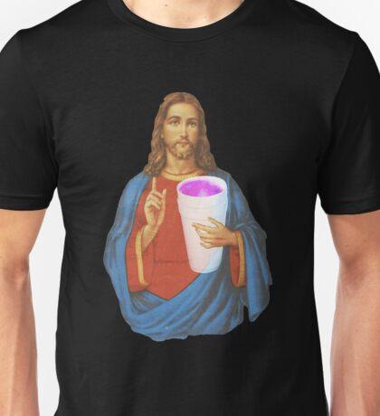 Jesus X Lean thuggin Unisex T-Shirt